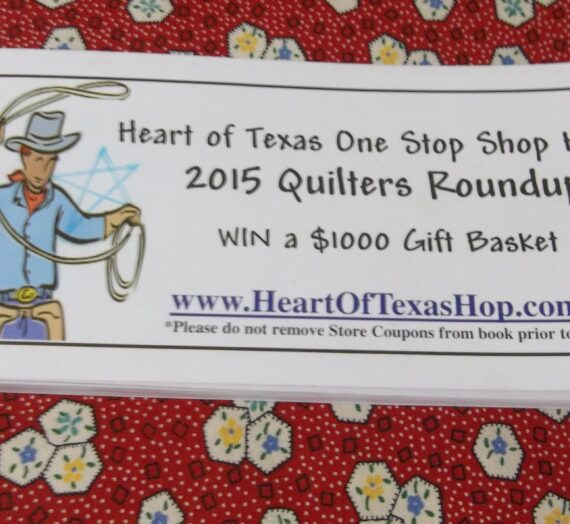 Heart of Texas One Stop Shop Hop 2015 Quilter's Roundup
