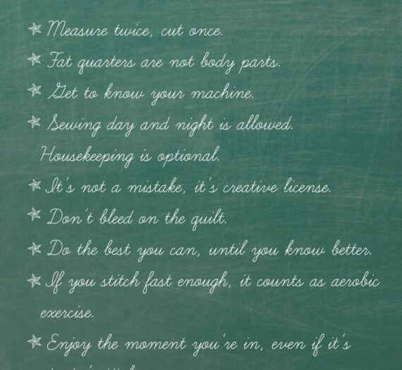Rules for Quilting