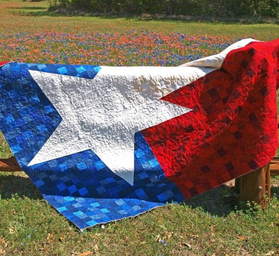 Texas 9 Patch Flag Quilt