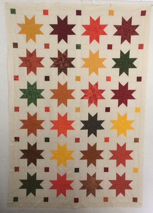 Autumn Stars quilt using the MSQC tutorial