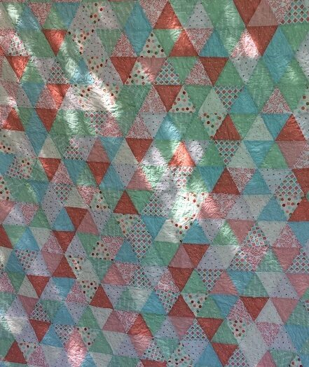 Dappled Triangles – an Accuquilt cutter project