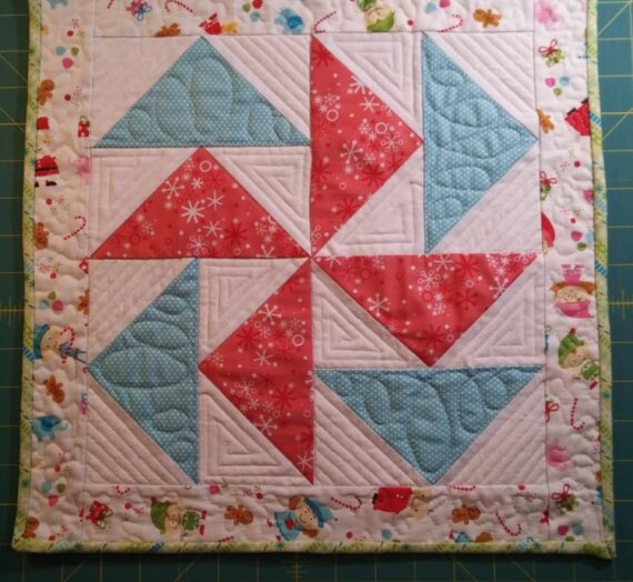 Christmas Geese Mini Quilt